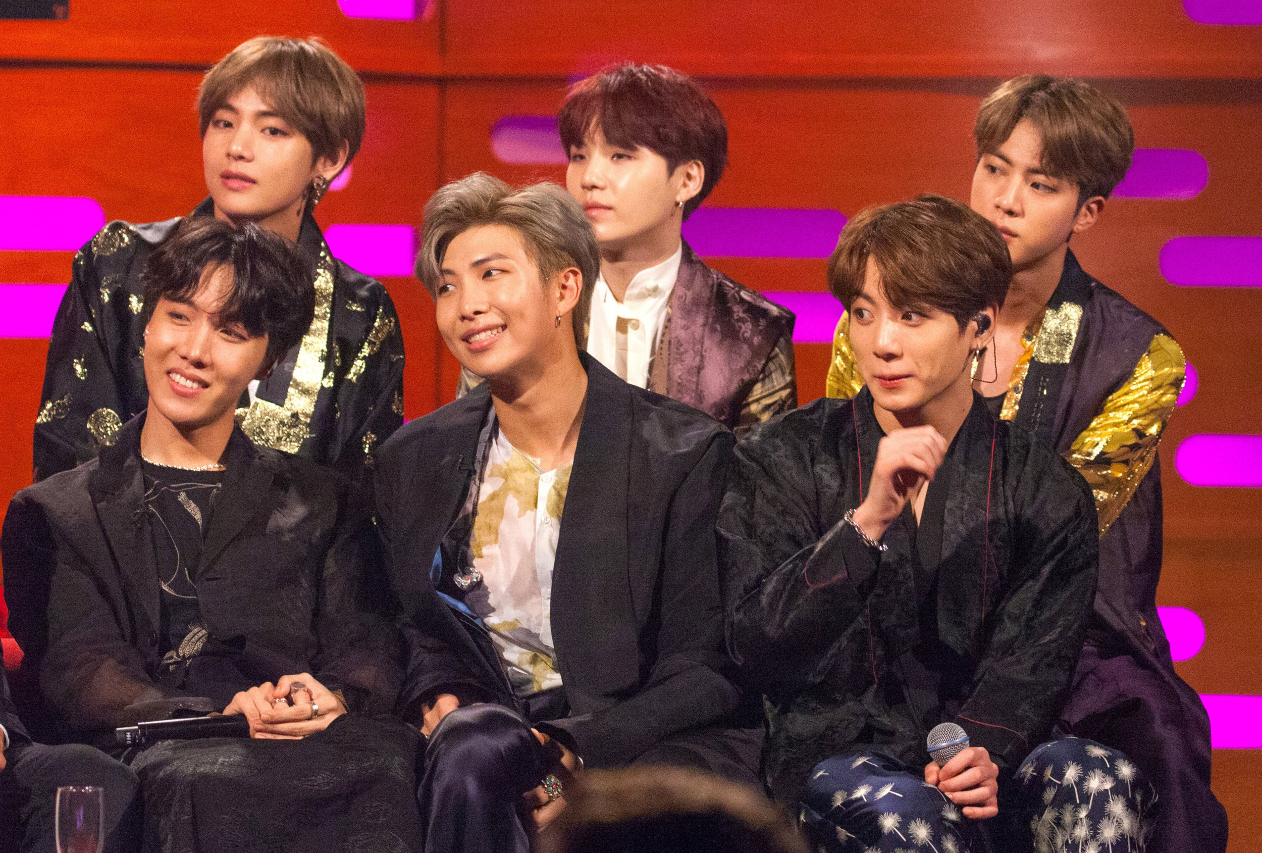 File photo dated 11/10/18 of K-pop superstars BTS who have won big at the BBC Radio 1 Teen Awards as they were named best international group and social media stars. PRESS ASSOCIATION Photo. Issue date: Sunday October 21, 2018. The seven-piece boy band, who in May this year released their third studio album Love Yourself: Tear, appeared via videolink to accept the two awards. See PA story SHOWBIZ TeenAwards. Photo credit should read: Tom Haines/PA Wire
