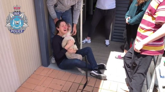The emotional moment a dog stolen outside a supermarket by a brazen thief is reunited with her loving owner