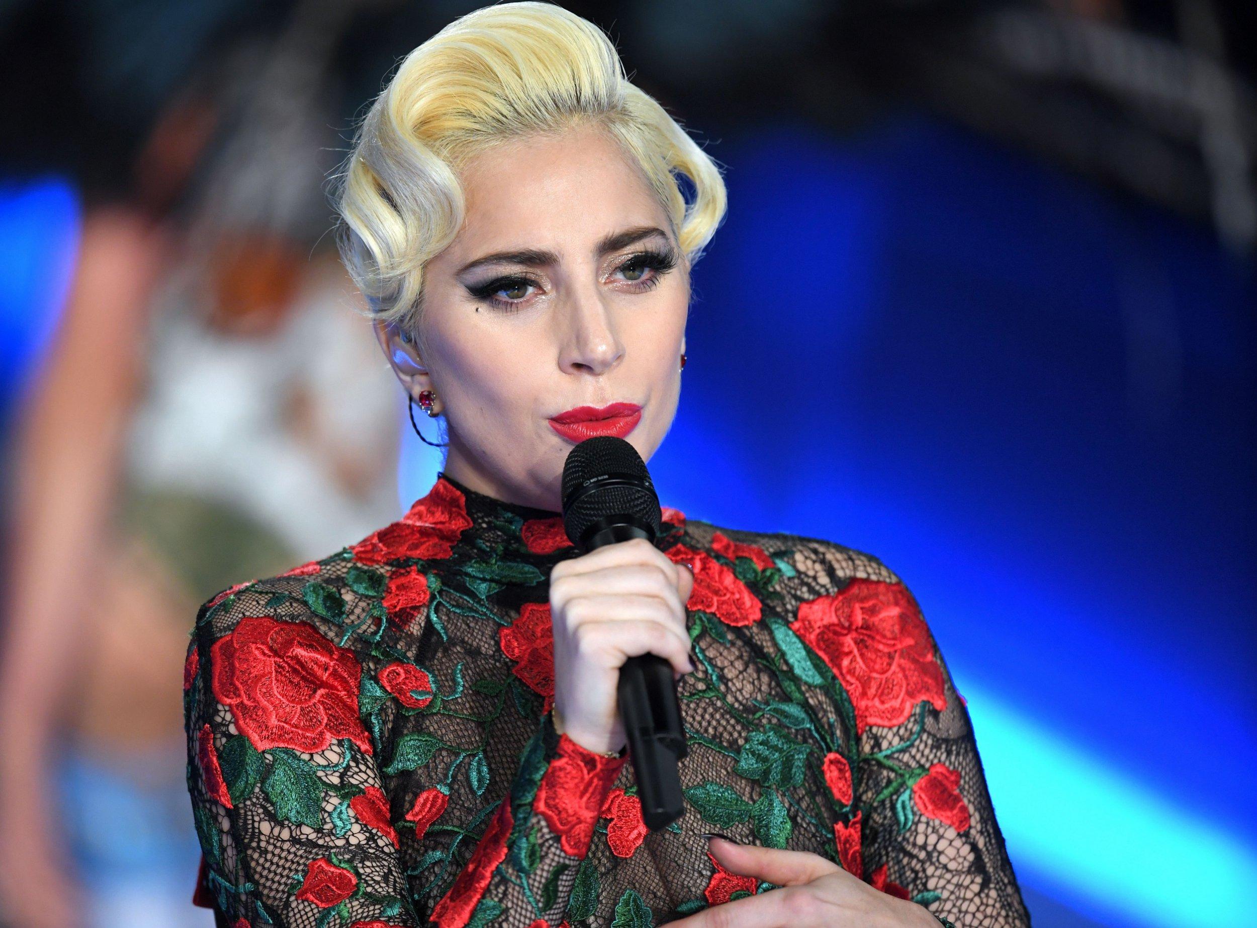 Mandatory Credit: Photo by David Fisher/REX/Shutterstock (7529849da) Lady Gaga performing on the catwalk Victoria's Secret Fashion Show, Runway, Grand Palais, Paris, France - 30 Nov 2016