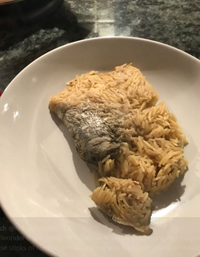 Mouse in Lidl rice packet