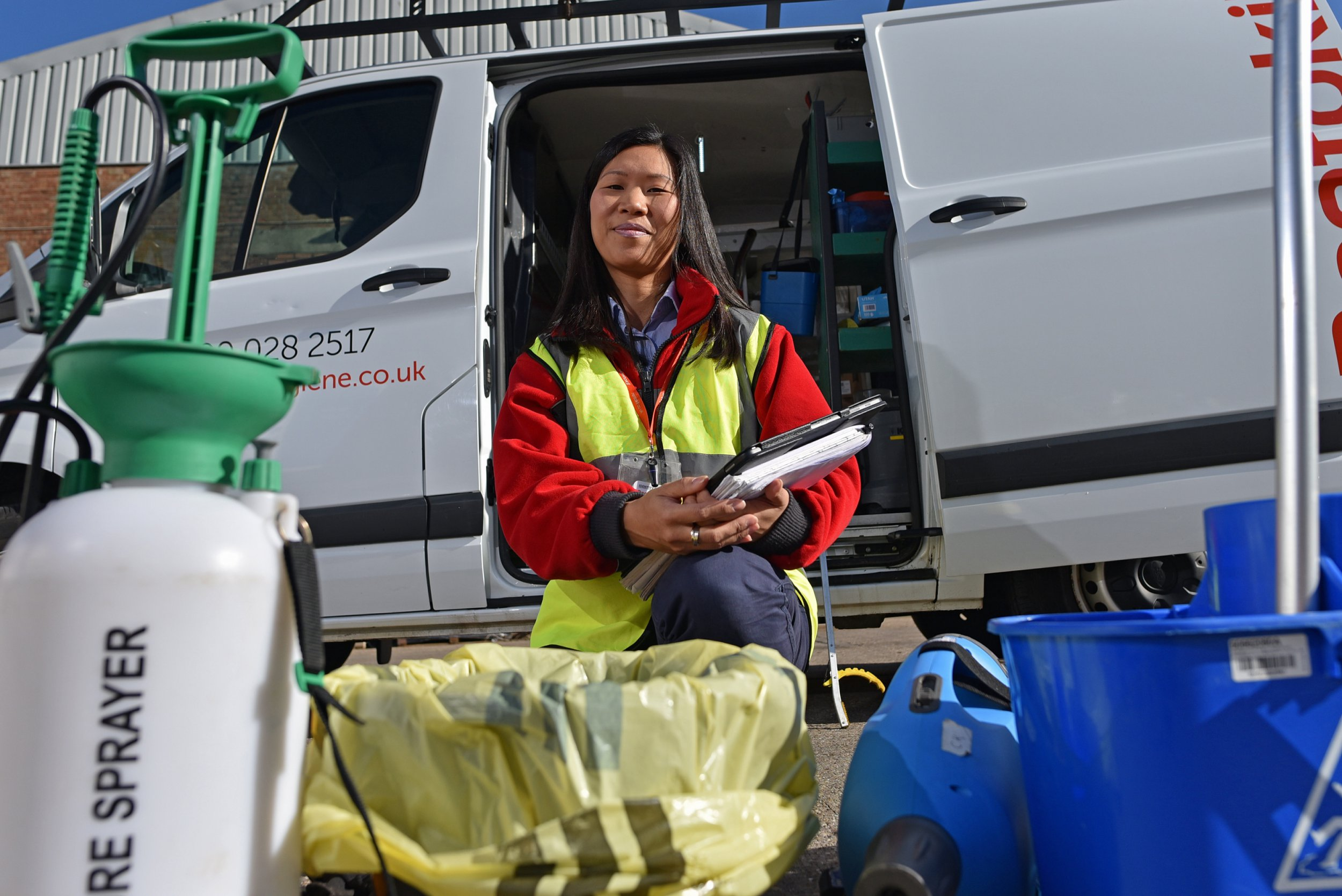 My Odd Job. Patricia Whan-Hatfield, pictured, of Rentokil, Birmingham, she cleans up unusual situations like crime scenes and hoarders' homes.