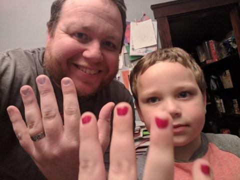 Dad's anger at bullies who taunted son for wearing nail polish
