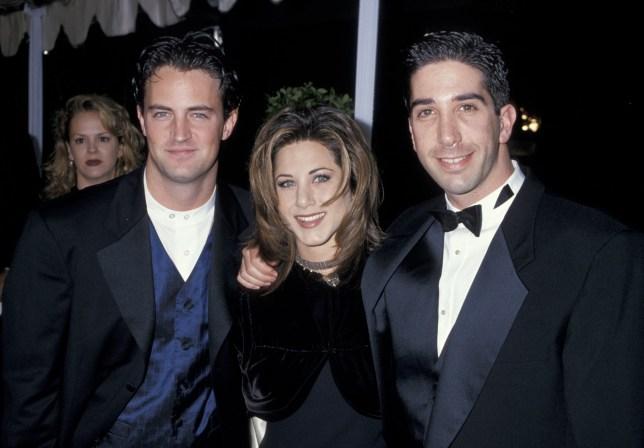 Matthew Perry, Jennifer Aniston and David Schwimmer (Photo by Jim Smeal/WireImage)