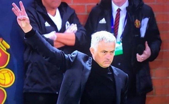 The reason Jose Mourinho aimed three-finger salute at travelling Juventus fans