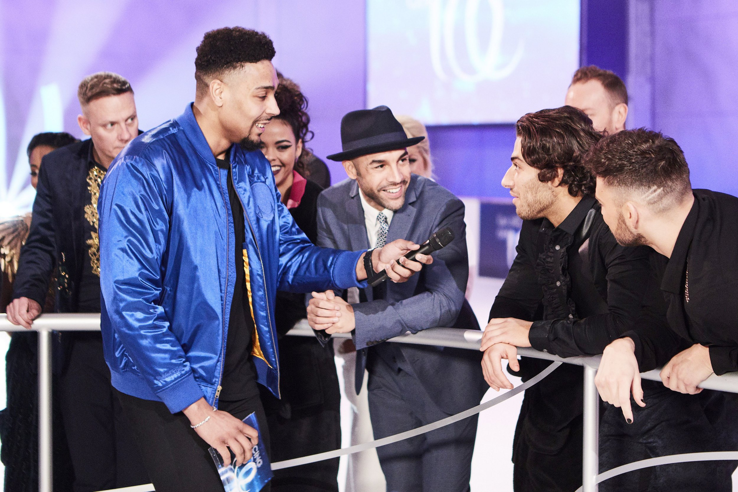 Editorial use only Mandatory Credit: Photo by Matt Frost/ITV/REX/Shutterstock (9342338ab) Jordan Banjo and Kem Cetinay 'Dancing on Ice' TV show, Series 10, Behind the Scenes, Hertfordshire, UK - 28 Jan 2018