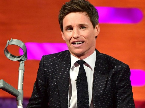 What happened to Eddie Redmayne's leg as he wears ankle cast on The Graham Norton Show?
