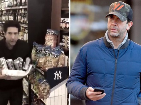 David Schwimmer grabs coffee after Blackpool police clear him as lager theft suspect