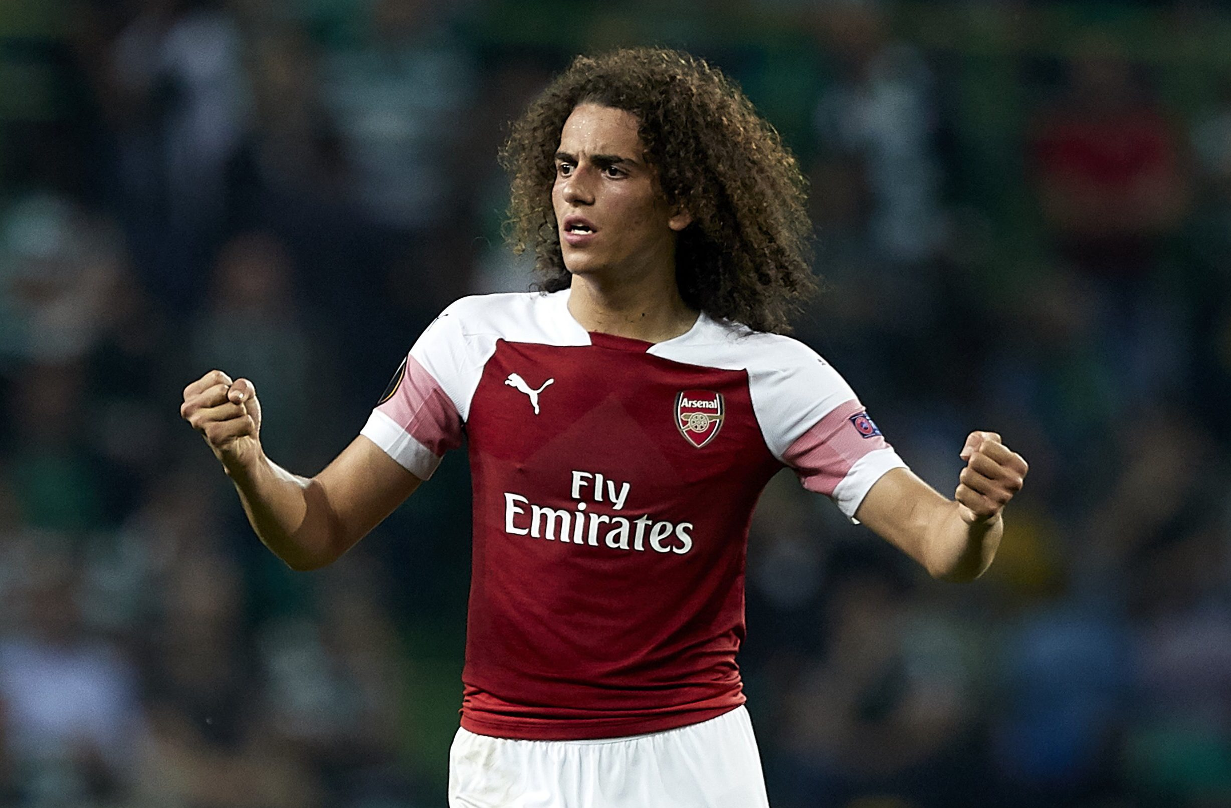 LISBON, PORTUGAL - OCTOBER 25: Matteo Guendouzi of Arsenal reacts during the UEFA Europa League Group E match between Sporting CP and Arsenal at Estadio Jose Alvalade on October 25, 2018 in Lisbon, Portugal. (Photo by Quality Sport Images/Getty Images)