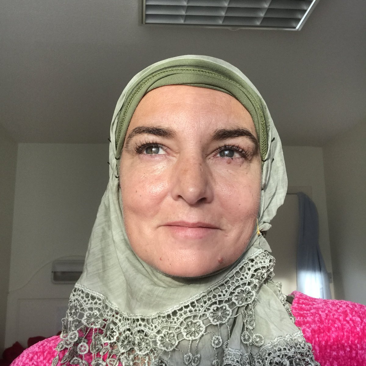 Sinead O'Connor has converted to Islam and changed her name to Shuhada' Davitt (Picture: @MagdaDavitt77)