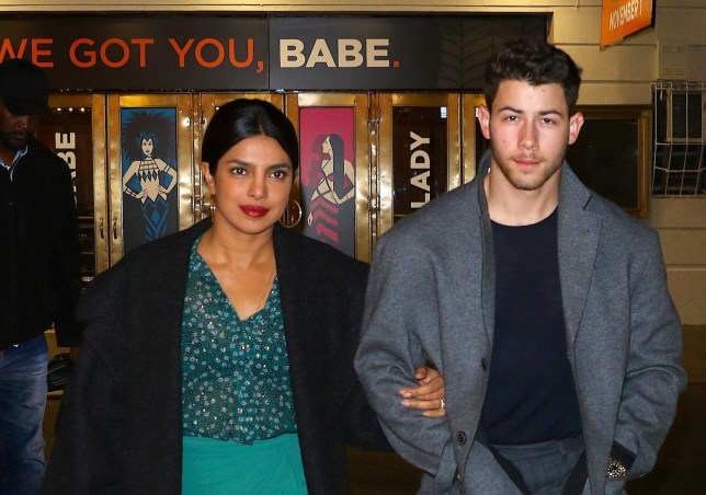 EXCLUSIVE: Priyanka Chopra & Nick Jonas head out for date night at Mean Girls on Broadway Pictured: Ref: SPL5036790 271018 EXCLUSIVE Picture by: SplashNews.com Splash News and Pictures Los Angeles: 310-821-2666 New York: 212-619-2666 London: 0207 644 7656 Milan: +39 02 4399 8577 Sydney: +61 02 9240 7700 photodesk@splashnews.com World Rights