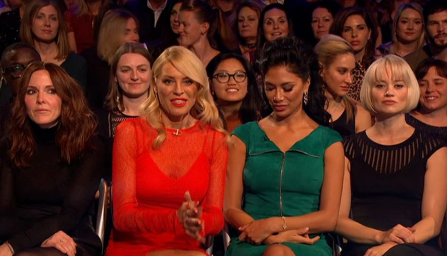 GRABS Nicole Scherzinger appears to have an awkward exchange with Tess Daly on Strictly