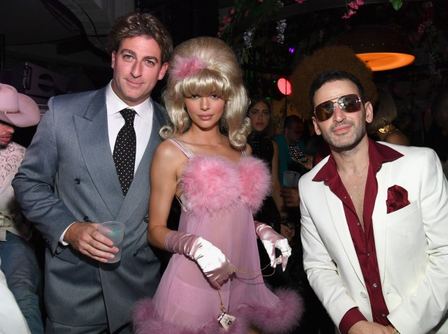 LAS VEGAS, NV - OCTOBER 27: (L-R) Mark Birnbaum, Kendall Jenner and Eugene Remm attend Casamigos Halloween party at CATCH Las Vegas at ARIA Resort & Casino on October 27, 2018 in Las Vegas, Nevada. (Photo by Kevin Mazur/Getty Images for Casamigos)