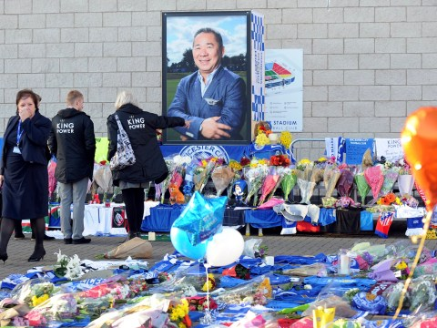 Who was on the helicopter that crashed in Leicester owned by Vichai Srivaddhanaprabha?