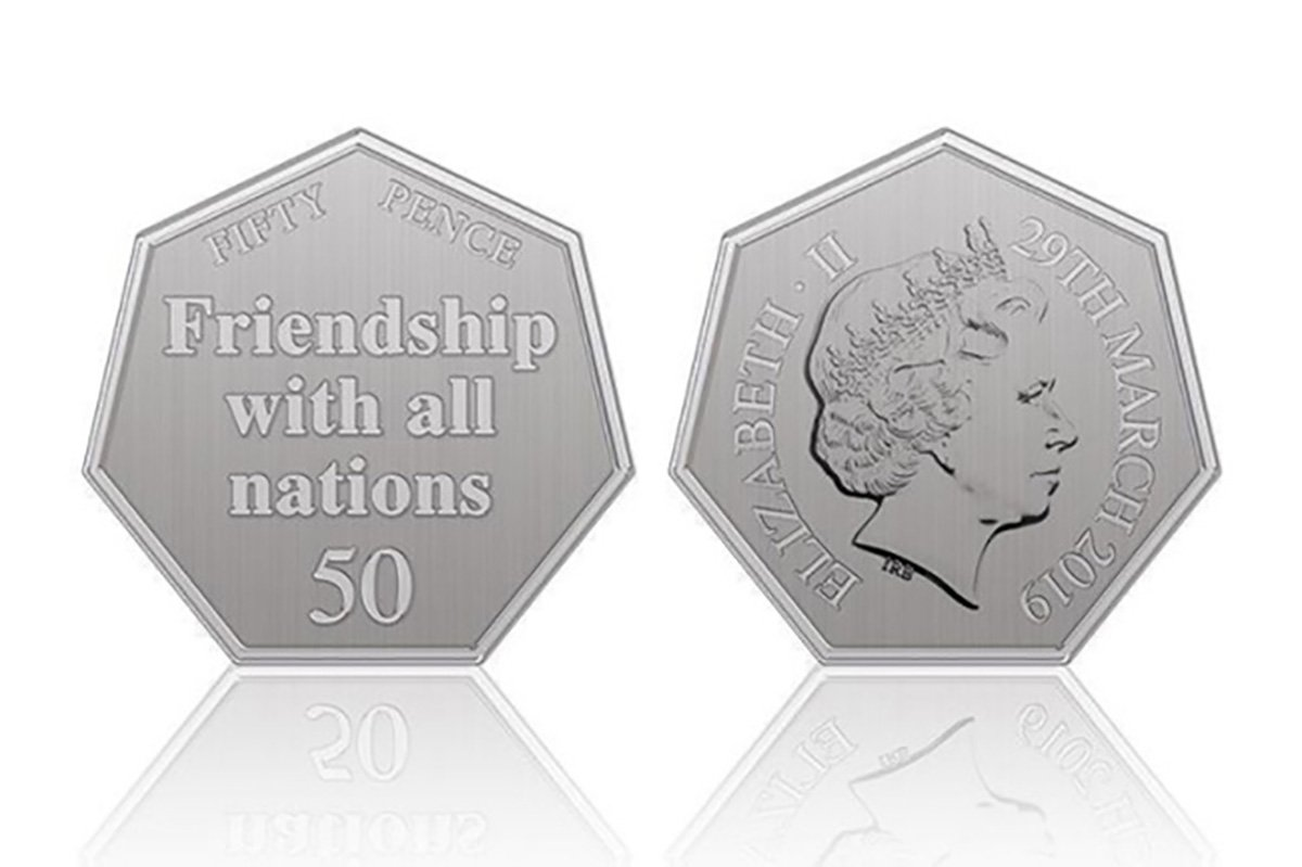 When are the new Brexit 50p coins coming out and whose idea was it?