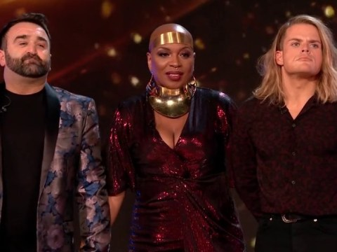 Who swore on The X Factor results show on Sunday night?