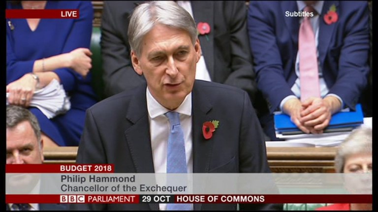 METRO GRAB BUDGET BBC Chancellor of the Exchequer, Philip Hammond, presents his 2018 budget announcement to Parliament