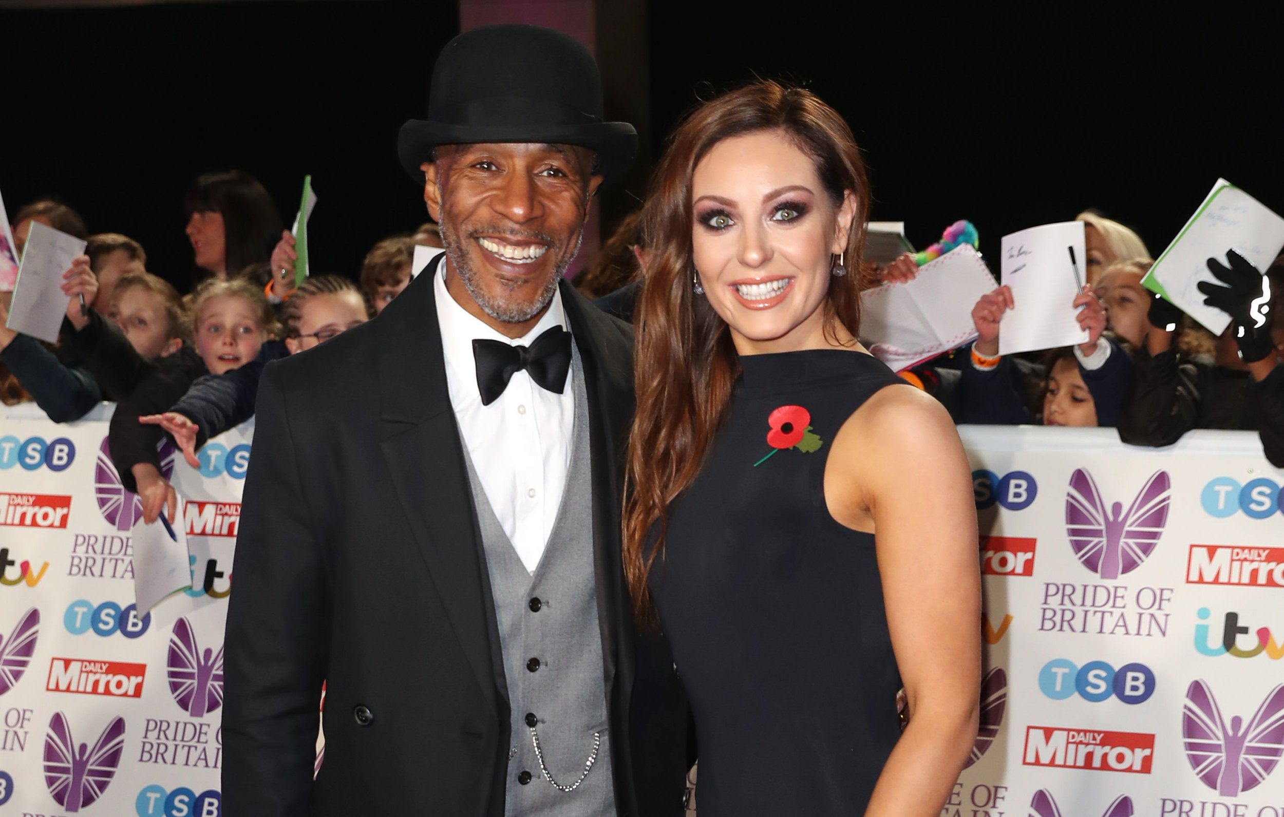 Danny John-Jules and Amy Dowden during the Pride Of Britain Awards 2018, in partnership with TSB, honouring the nation's unsung heroes and recognising the amazing achievements of ordinary people, held at the Grosvenor House Hotel, London. PRESS ASSOCIATION PHOTO. Picture date: Monday October 29, 2018. See PA story SHOWBIZ Pride. Photo credit should read: Steve Parsons/PA Wire