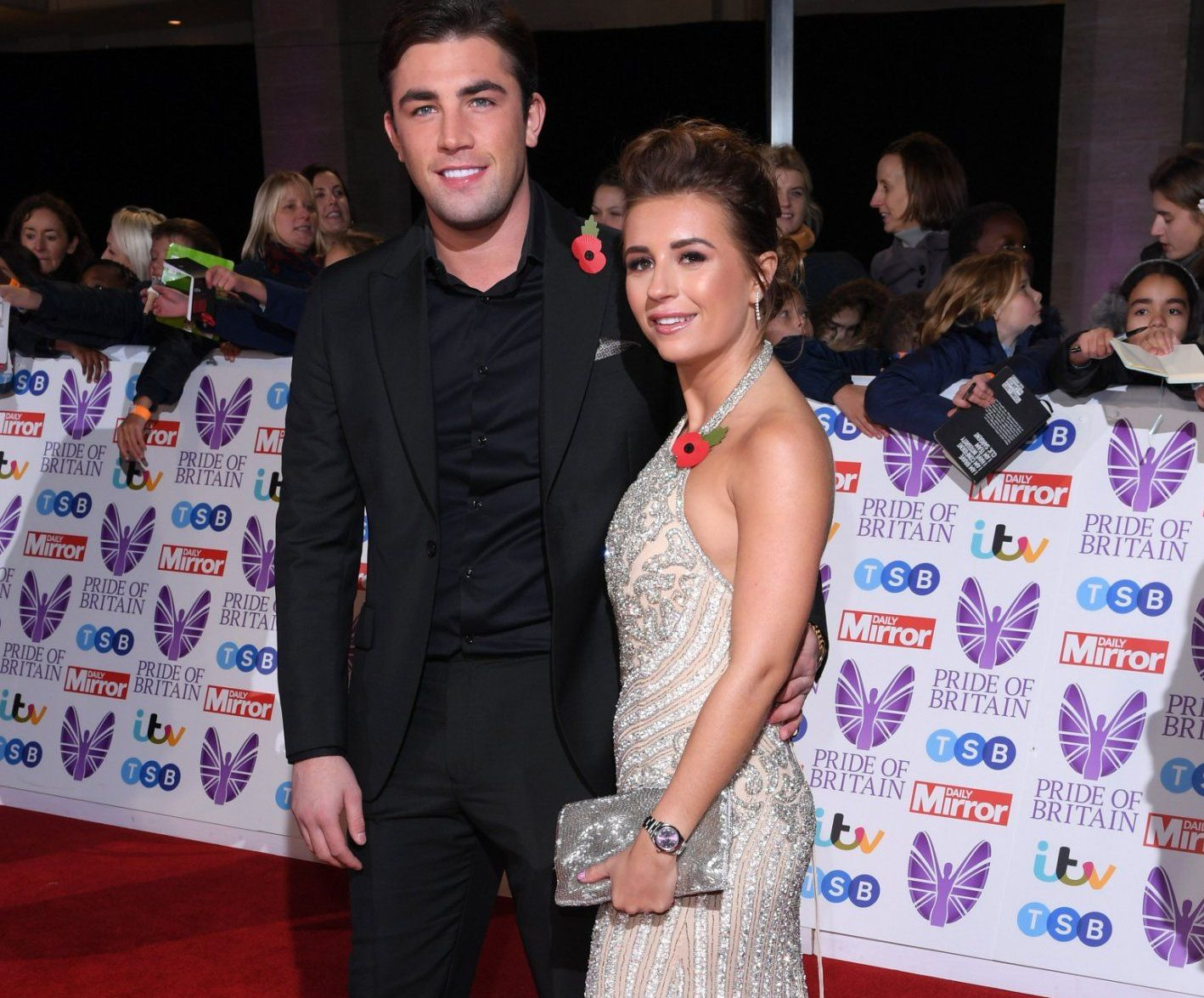 Mandatory Credit: Photo by David Fisher/REX (9947961ac) Jack Fincham and Dani Dyer Pride of Britain Awards, Grosvenor House, London, UK - 29 Oct 2018 The Daily Mirror Pride of Britain Awards, in partnership with TSB, will broadcast on ITV on 6th November at 8pm