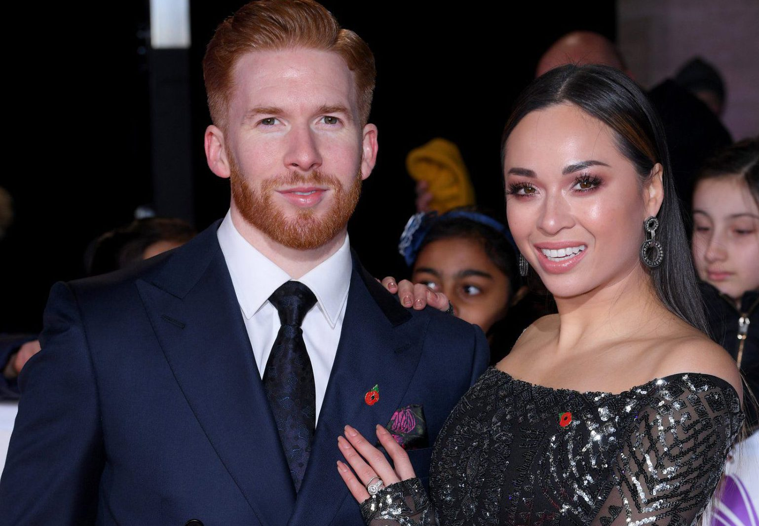 Mandatory Credit: Photo by David Fisher/REX (9947961lr) Katya Jones and husband Neil Jones Pride of Britain Awards, Grosvenor House, London, UK - 29 Oct 2018 The Daily Mirror Pride of Britain Awards, in partnership with TSB, will broadcast on ITV on 6th November at 8pm