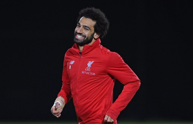 LIVERPOOL, ENGLAND - OCTOBER 31: (THE SUN OUT, THE SUN ON SUNDAY OUT) Mohamed Salah of Liverpool during a training session at Melwood Training Ground on October 31, 2018 in Liverpool, England. (Photo by John Powell/Liverpool FC via Getty Images)
