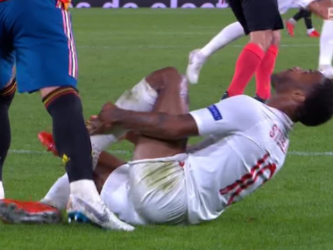 Sergio Ramos escapes red card after 'stamp' on Raheem Sterling