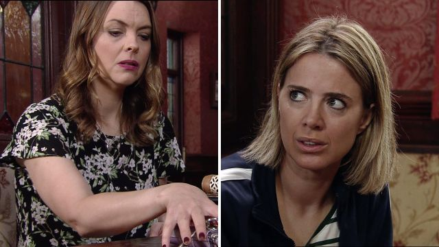 Tracy and Abi in Coronation Street