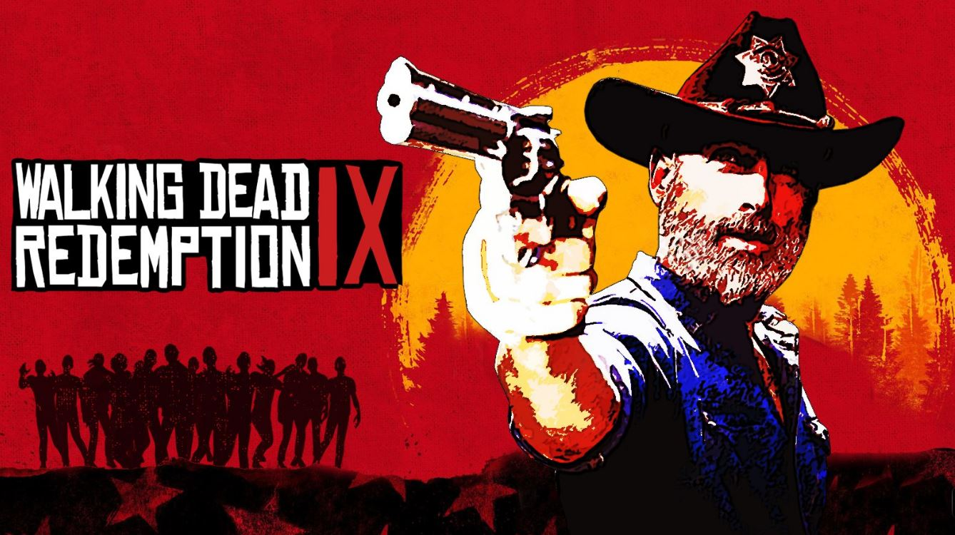 The Walking Dead celebrates Red Dead Redemption II's release with Rick Grimes poster makeover
