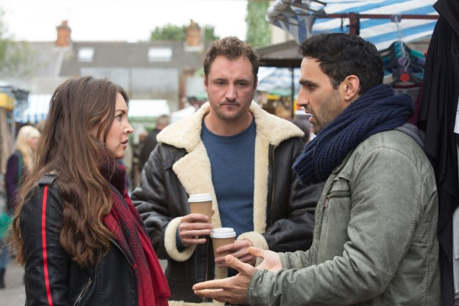 Martin, Kush and Stacey in EastEnders