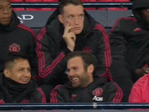 Manchester United fans angry with Alexis Sanchez and Juan Mata for laughing during Manchester City clash