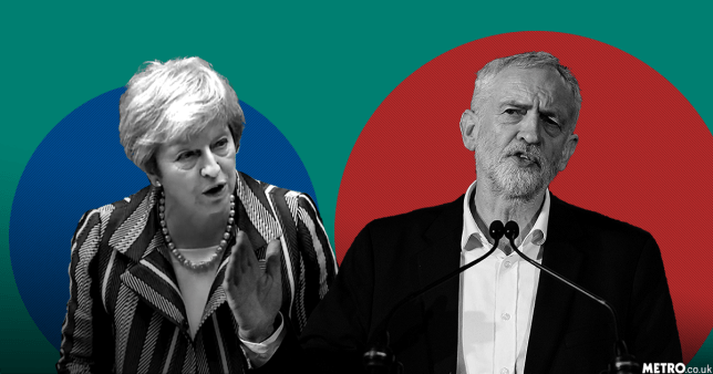Brexit Debate Theresa May Jeremy Corbyn Picture: REX/ PA