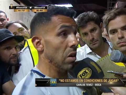 Carlos Tevez speaks out after Boca Juniors team bus attack: 'We are being forced to play against River Plate'