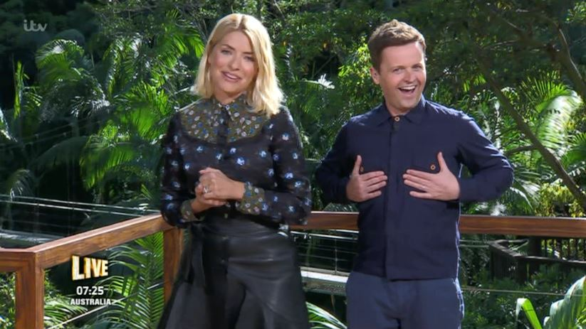 I'm A Celebrity's Holly Willoughby very distracted by Declan Donnelly's 'nipples'