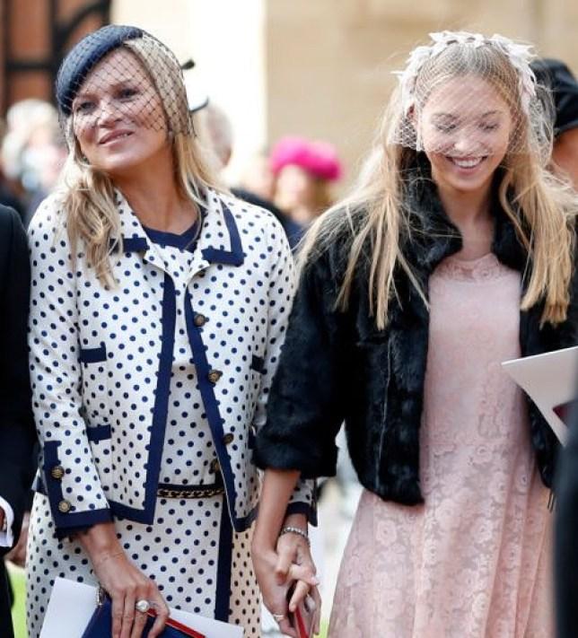 Kate and Lila Moss at Princess Eugenies wedding