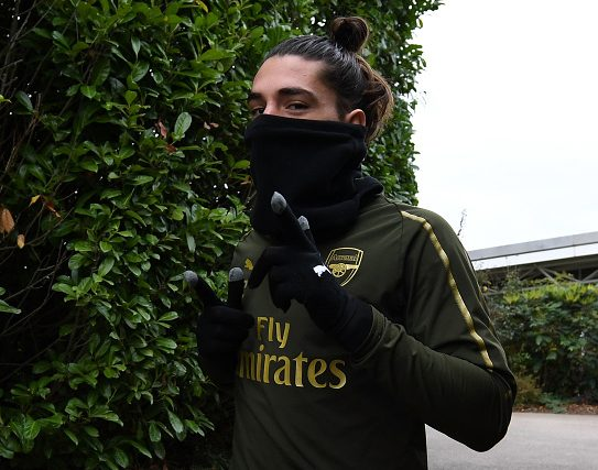 Hector Bellerin returns to Arsenal training ahead of huge Liverpool clash
