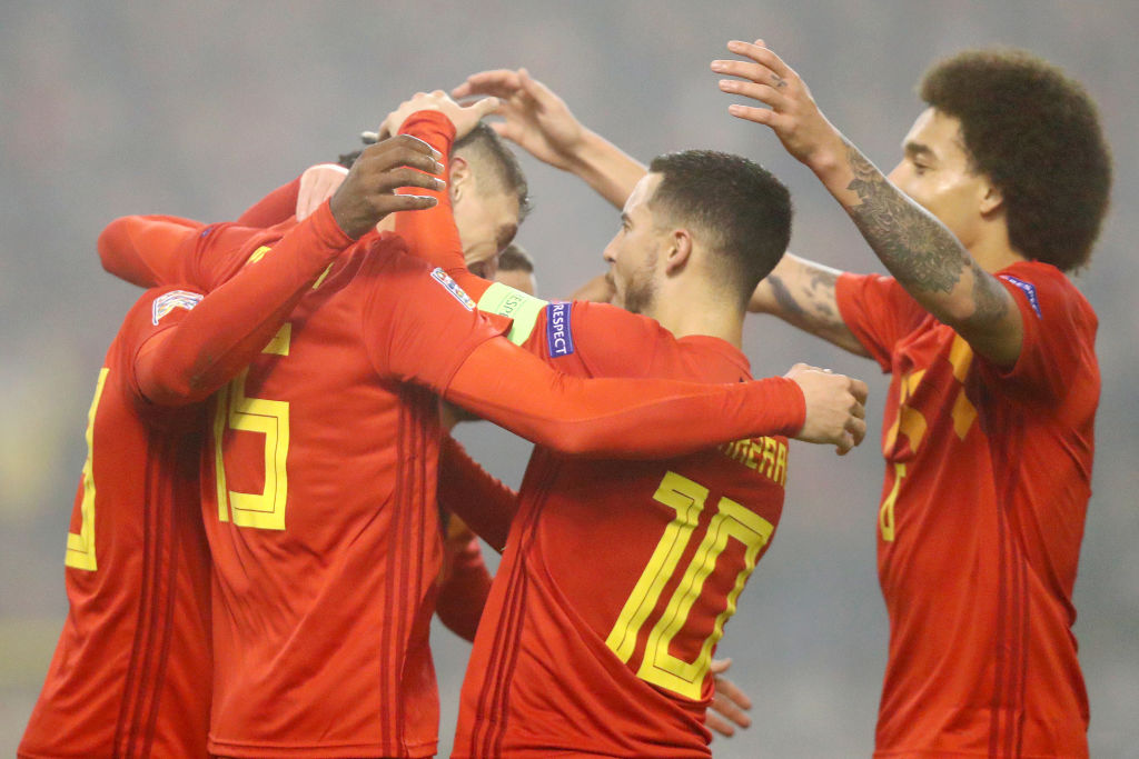 Eden Hazard plays impossible pass to create stunning goal for Belgium as Jose Mourinho watches on