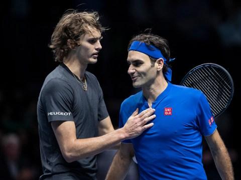 Roger Federer defends Alexander Zverev after he's booed at ATP Finals