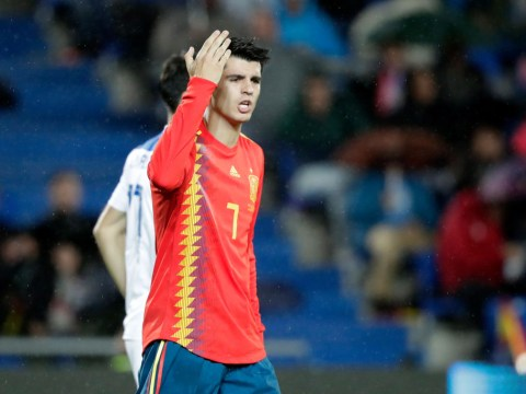 Alvaro Morata's blushes are spared as Spain win despite his open goal miss