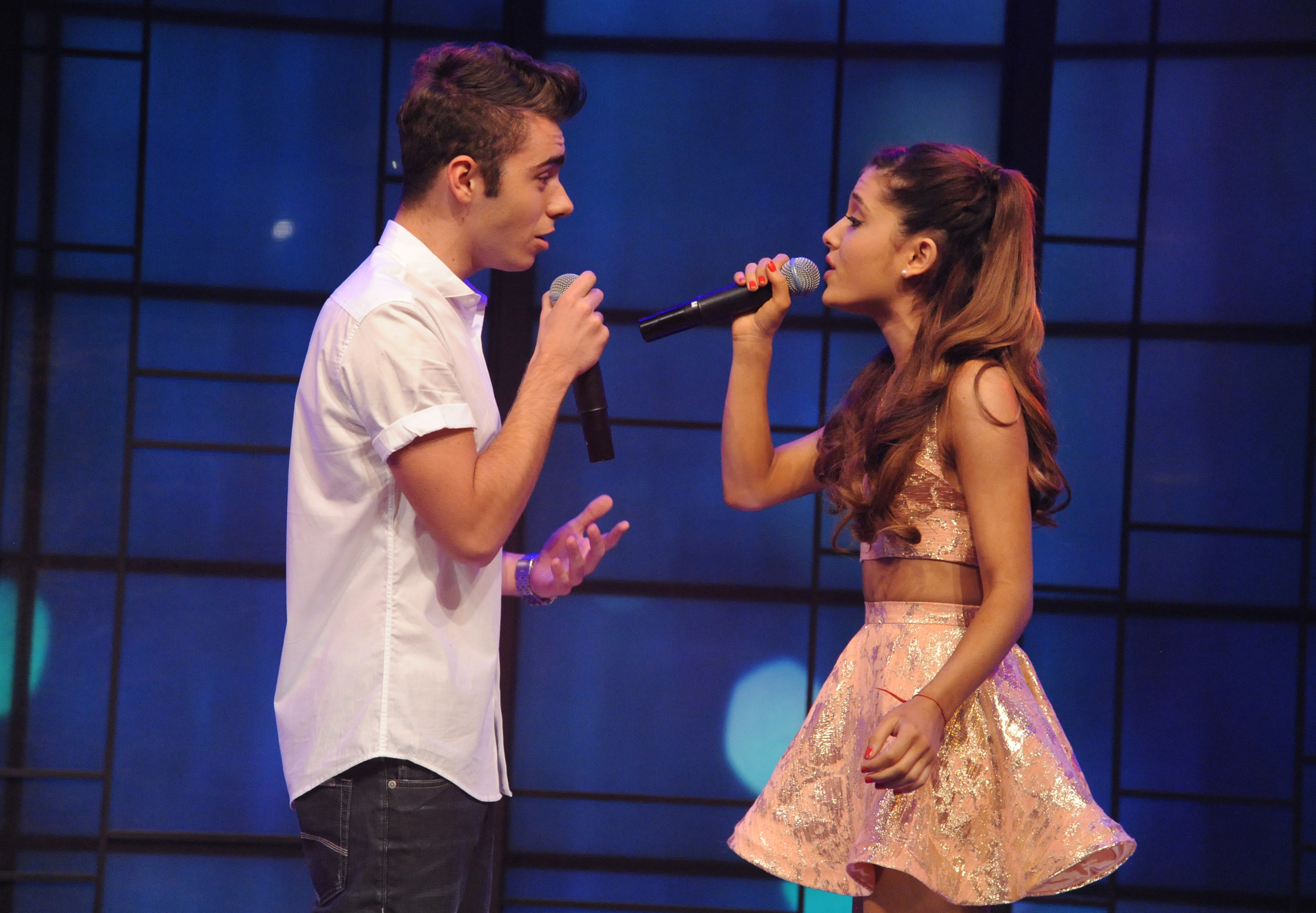 Nathan Sykes breathes a sigh of relief after not getting a mention on ex-girlfriend Ariana Grande's lastest track