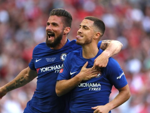 Olivier Giroud reveals why he said 'f**k' the first time he saw Eden Hazard train for Chelsea