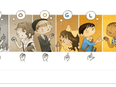 Who was Charles-Michel de l'Épée and why is he on today's Google Doodle?