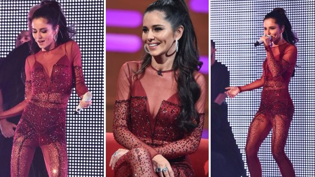 Cheryl goes all out in skintight jumpsuit as she performs on Graham Norton