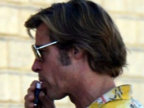 Brad Pitt makes sure lips are moist chatting to Quentin Tarantino on set of Once Upon A Time In Hollywood