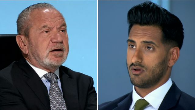 The Apprentice: Lord Sugar makes 'grass' joke to Daniel Elahi after candidate was exposed as convicted drug dealer