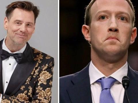 Jim Carrey blasts Facebook's Mark Zuckerberg again with savage cartoon