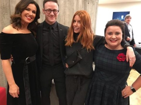Strictly's Kevin Clifton parties with 'Charlie Angels' Stacey Dooley, Susanna Reid and Susan Colman