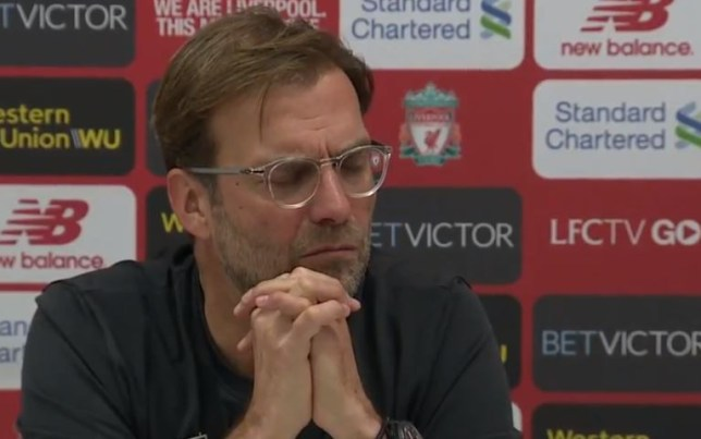 195c8c59e Jurgen Klopp reacts angrily to question on Liverpool's 'overrun' midfield