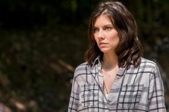 Lauren Cohan playing Maggie Greene in The Walking Dead