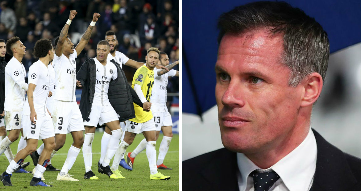 PSG players should be 'embarrassed' to talk to their families, says Liverpool legend Jamie Carragher