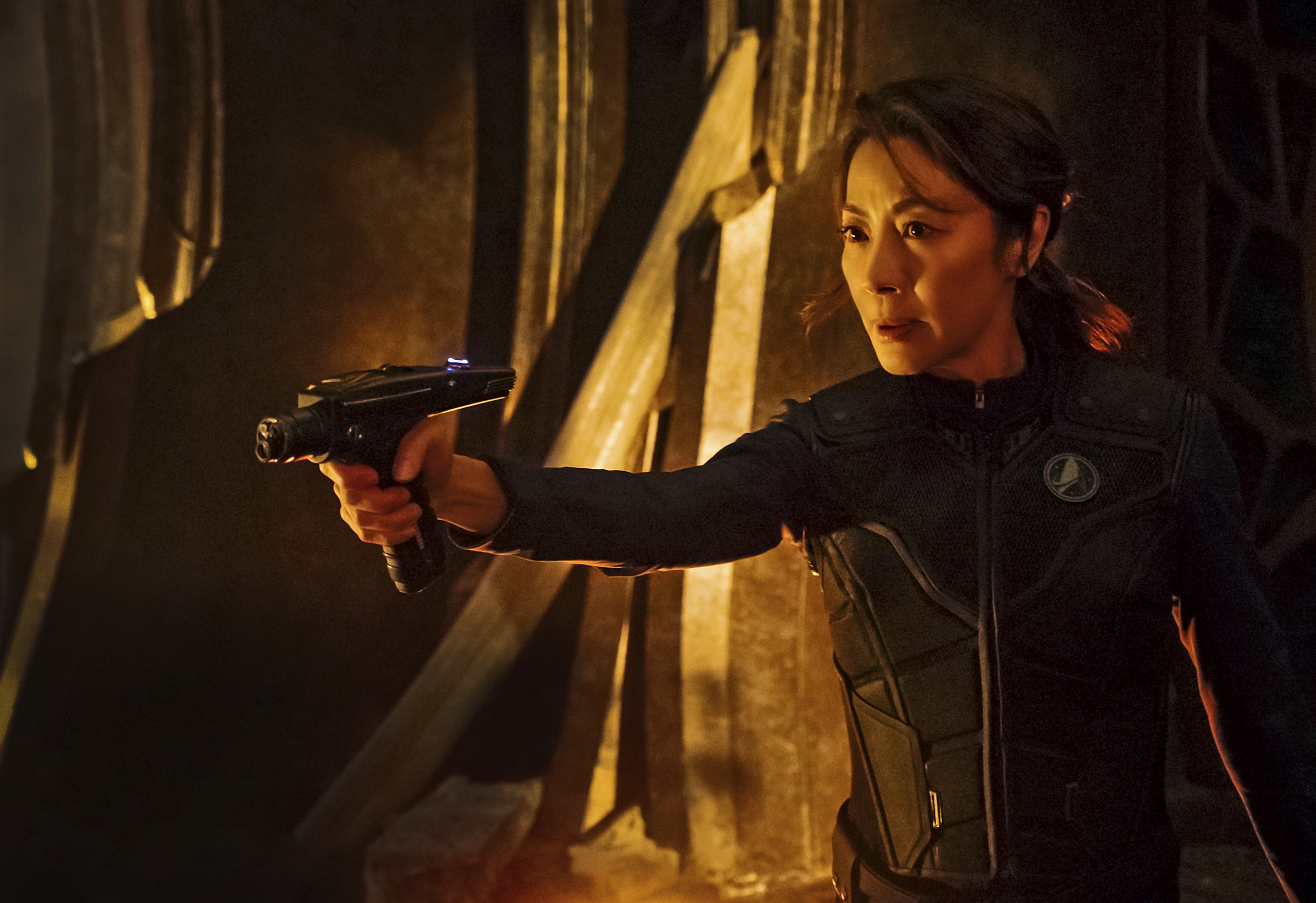 Television programme: STAR TREK: DISCOVERY. Pictured: Michelle Yeoh as Captain Philippa Georgiou. coming to CBS All Access. Photo Cr: Jan Thijs ? 2017 CBS Interactive. All Rights Reserved.