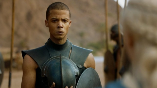 Television Programme: Game of Thrones with Jacob Anderson as Grey Worm.